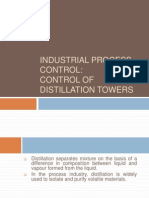 Instrumentation and Control of Distillation Towers