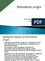 Petroleum Origin Neeraj