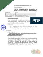Informe Tecnico Aprobacion de Perfil Tecnico Desague de Chacralla