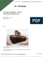 Tortulet cu ciocolata – Torta di cioccolato (versionemini) _ Il Menu di Angela - Homepage