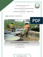 anthropologie et gestion de l'eau à Ouèdo commune d'Abomey-calavi