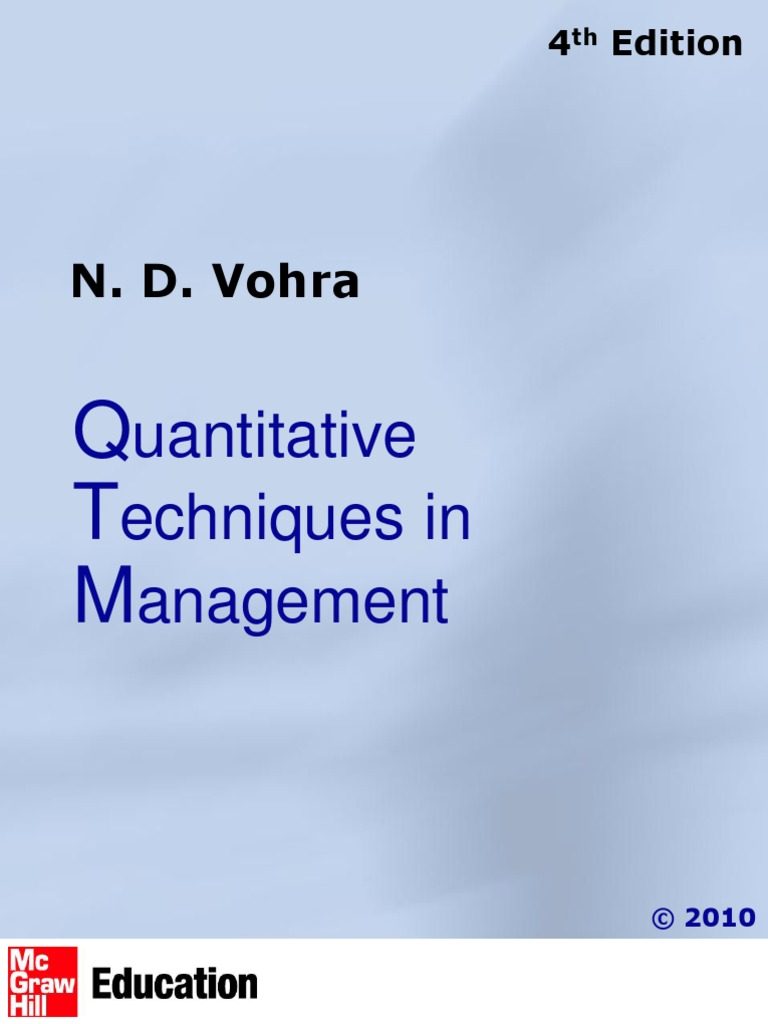 Quantitative Techniques For Management Decisions Pdf