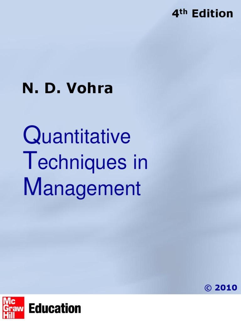 Quantitative Techniques For Management Decisions Pdf