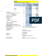 Balance Sheet and Statement of Profitloss 2011-12
