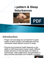 Sleep Pattern & Sleep Disturbances-Revised