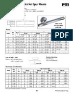 Metric Gear Racks for Spur Gear