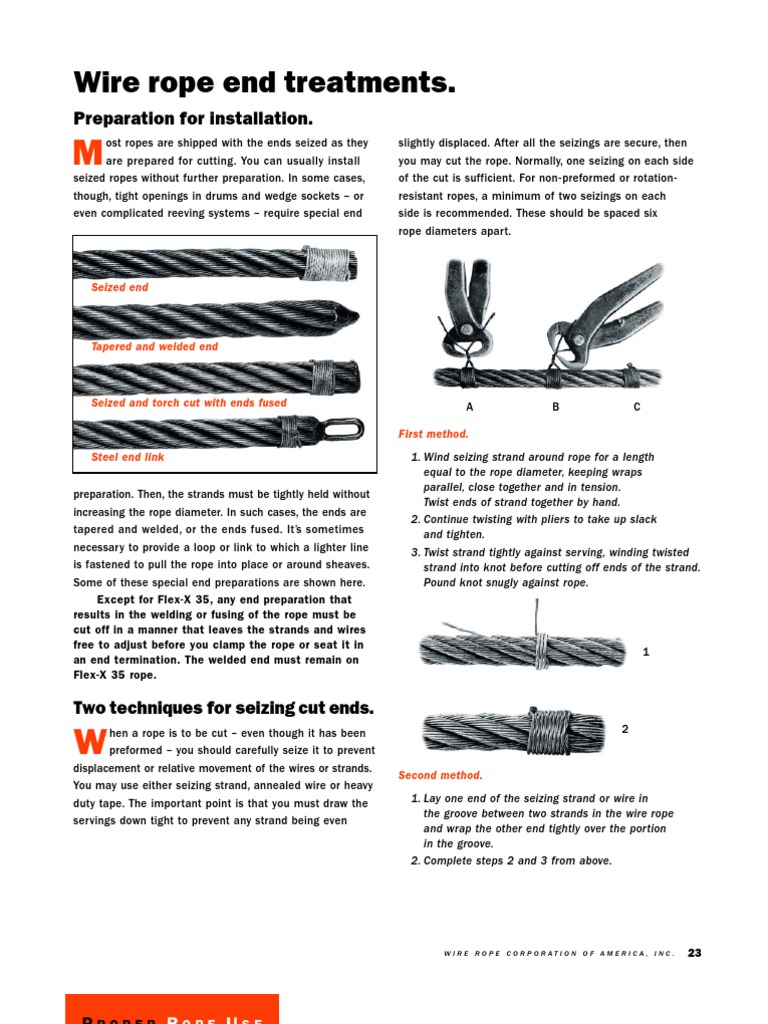 Proper Wire Rope Use | Rope | Wire