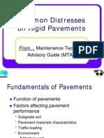 Rigid Pavement Distresses