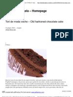 Tort de moda veche – Old fashioned chocolatecake _ Il Menu di Angela - Homepage