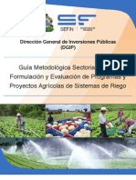 Guia Metodologica Sectorial Agroforestal Riego