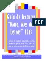 guía lecturas maio mes das letras 2013