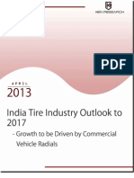 India Tire Industry to Reach USD 22,393.6 Million By 2017