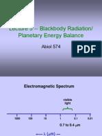 Lecture 5_Blackbody Radiation_Energy Balance