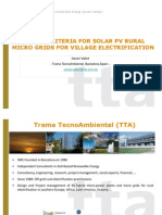 Energy - Design Criteria for Solar Pv Rural Microgrids for Rural Electrification