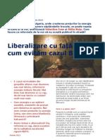 Raport Energie Piata Libera -Evitarea Cazului Bulgariei