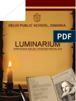 LUMINARIUM INTER SCHOOL ENGLISH LITERATURE FESTIVAL 2013