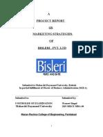 Bisleri Marketing Strategies - 77 Pages (1)
