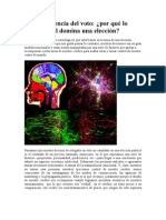 La Neurociencia Del Voto