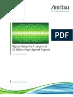 Signal Integrity Analysis of 28 Gbit-s Signals