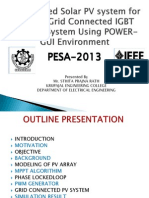 MPPT based solar PV system for three phase grid connected  IGBT based Inverter system using POWER-GUI environment