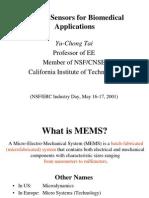 Mems Sensors for Biomedical Applications