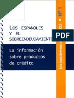 Nº 1 Los españoles y el sobreendeudamiento