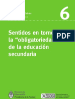 Obligatoriedad Educacion Secundaria