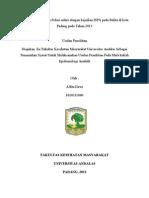 EKOLOGI- Hubungan Tingginya Polusi udara dengan kejadian ISPA pada Balita di Wilayah Kerja Puskesmas Indarung pada Tahun 2012.doc