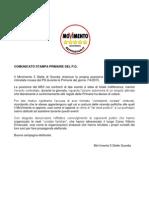 Comunicato Stampa Primarie Del Pd