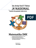Kumpulan Arsip Soal 5 Tahun UN Matematika SMK 2008 - 2012