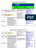 algebric modeling scope and sequence 4th quarter 2012-2013