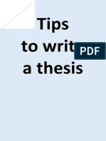 Tips to write a thesis