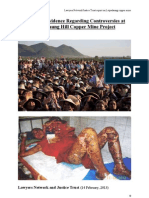 BURMA  Lawyers' report on Letpadaung COPPERMINING