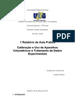 calibração de aparelhos volumetricos CERTO