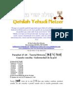 Parashat Tazría y Metzorát # 27, 28 Adul 6013