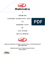 "CUSTOMER   SATISFACTION   WITH   REFENCE TO MAHINDRA ""XYLO"