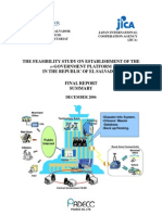 El Salvador Feasibility Study of eGovernment JICA Summary