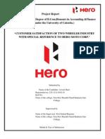 Project Report-Hero Moto Corp (Autosaved)