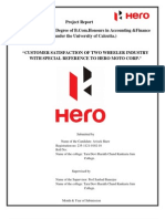organisational structure of hero motocorp company