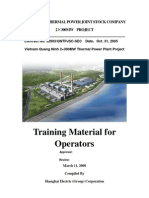 Training Material for Operators