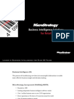 MicroStrategy Industry Solutions Retail