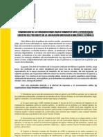Asociación DRY - AUME - Comunicado en apoyo de Jorge Bravo, presidente de la AUME