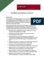 Desarrollo de Descentralizacion - Coordinador Omar Gandarillas