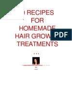 20 Recipes for Homemade Hair Growth Treatments