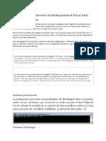 environnement de développement Visual Basic
