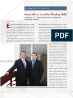 Charles Jones, The Lawyer's Lawyers Help Level the Playing Field, Attorney at Law Magazine, May 2011.