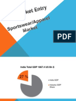 India Sportswear Market Entry Presentation