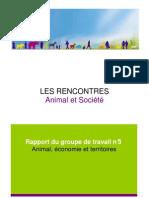 Rapport Du Groupe de Travail n3 Animal Economie Et Territoires