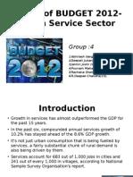 Effect of Budget 2012-13 onn servic sector...