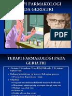 Terapi Farmakologi Pada Geriatri